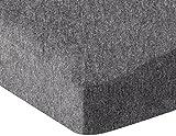 AmazonBasics Heather Jersey Fitted Crib Sheet Bedding, Dark Grey