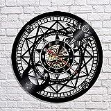 fdgdfgd Diseño Reloj Astronomía Astrología Arte Disco de Vinilo Reloj de Pared 3D Antiguo Reloj de Pared Retro Antiguo Tiempo año Nuevo