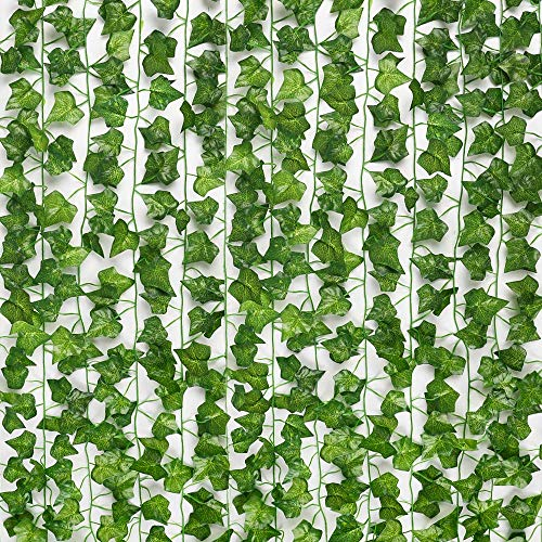 JPSOR 24pcs 158 Feet Fake Ivy Leaves Fake Vines Artificial Ivy,...