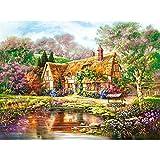 HZW 3000 pièces Puzzle Farm Country Cottage Paysage Puzzle Games Grand Jigsaw Toys Cadeaux d'anniversaire et Cadeaux de la Saint-Valentin pour Les Amis et Les Enfants