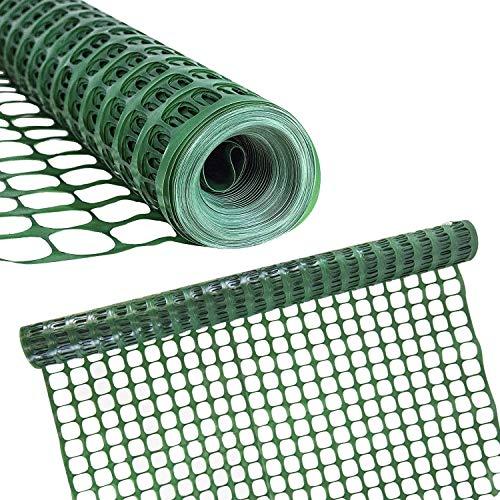 Houseables Plastic Mesh Fence, Construction Barrier Netting, Green,...