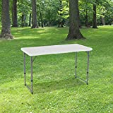 Table Pliante 120 cm d'Appoint Rectangulaire Blanche -...