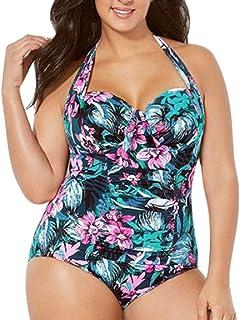 Rawdah-- Donne Ragazza Taglie Forti Retro Vita Alta Due Pezzi Bikini Spiaggia Costumi da Bagno Coordinati Due Pezzi Capestro Bendare Bikini Costume da Bagno Mare Spiaggia Estate Plus Size