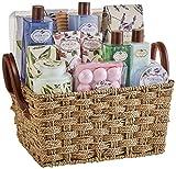 ¡Brillo!  Caja regalo - Premium Bath Floralia juego de baño colección Floralia perfume lavanda, ...