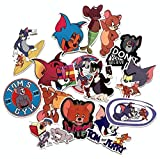 ZJJHX Juego de Gato y ratón, Pegatinas Bonitas de Tom y Jerry, Maleta con Ruedas Impermeable con Personalidad, Pegatinas de Graffiti de Dibujos Animados 15