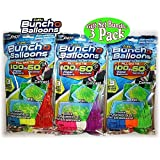 Zuru Bunch O Balloons Instant 100 Self-Sealing Water Balloons Complete Gift Set Bundle, 3 Piece (300 Balloons Total) (Toy)