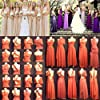 Women's Transformer Convertible Multi Way Wrap Long Prom Maxi Dress V-Neck Hight Low Wedding Bridesmaid Evening Party Grecian Dresses Boho Backless Halter Formal Cocktail Dance Gown Burgundy X-Large #2