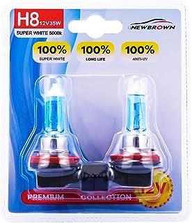 H8 Halogen Headlight Bulb fog light with Super White Light PGJI9-1 12V/35W 5000K, 2 Pack,..