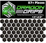 Dragon Grips Hexagon Decal Sticker Set of 57 Pieces 1/2 inch Wide 5/8 Point to Point for Phone Grip Stickers Mouse Laptop case Crafting