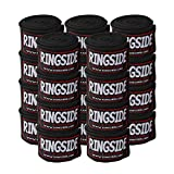 Ringside Mexican Style Boxing Hand Wraps (10 Pairs Pack), Black