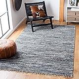 Safavieh Rag Rug Collection RAR128A Handmade Boho Stripe Cotton Area Rug, 6' x 9', Grey