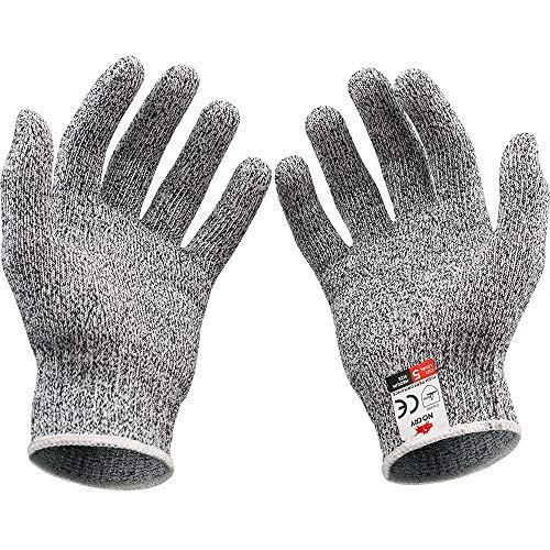 Lomoni, guanti da lavoro anti-taglio, guanti da giardinaggio, affilacoltelli da cucina, per uso...