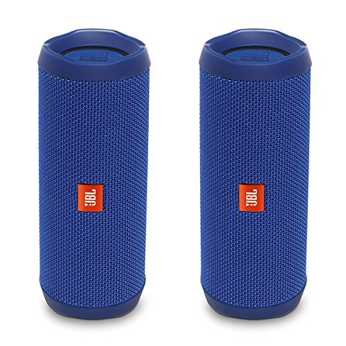 61PAkjl0ZaL This Bundle Includes (2) JBL Flip 4 Portable Wireless Bluetooth Speakers Wireless Bluetooth Streaming Up to 12 hours of play time with a wired connection, and 2-6 hours with a Bluetooth connection depending on volume level.