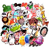 Children Kids Cartoon Animal Stickers Waterproof Skateboard Travel Suitcase Laptop Luggage Water Bottle Stickers 50Pcs/Pack