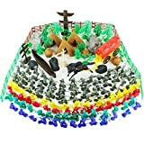Boley Learning Lootbox - Wild Wild West Bucket - 180 Piece Set Includes Miniature Plastic Cowboy Toys and Native American Warrior Figurines and Country Accessories