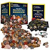 NATIONAL GEOGRAPHIC Rock Tumbler Refill – Mega Madagascar Gemstone Pack, 3 lb of Gemstones...