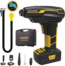 acetek Tire Inflator Cordless Air Compressor,Car Air Pump Tire Inflator Rechargeable, DC..