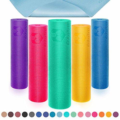 Yogamatte mit Memory-Schaumstoff   Spüre den Unterschied »Kirana« - rutschfest aus ECO-PVC hergestellt - Maße: 183x61x0,4 cm - die Unterlage für Yoga, Gymnastik, Fitness etc. / Kirana - Curry
