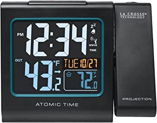 La Crosse Technology 616-146 Color Projection Alarm Clock with Outdoor temperature &..