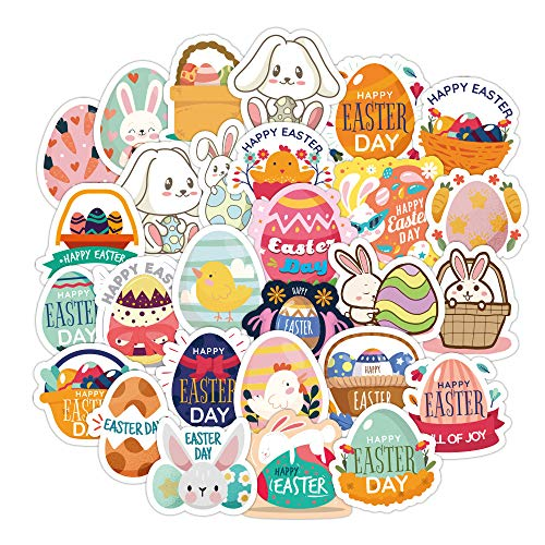 Easter Stickers for Kids Adults-100 PCS Cute Waterproof Vinyl Sticker Packs for Laptop Water Bottles Hydroflasks Cars Phone Case Envelopes Crafts,Scrapbooking Decals Sticker for Teens Girls Party