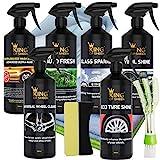 Kit de nettoyage pour voiture 11 pièces sans eau King of Sheen, pour nettoyer votre véhicule...