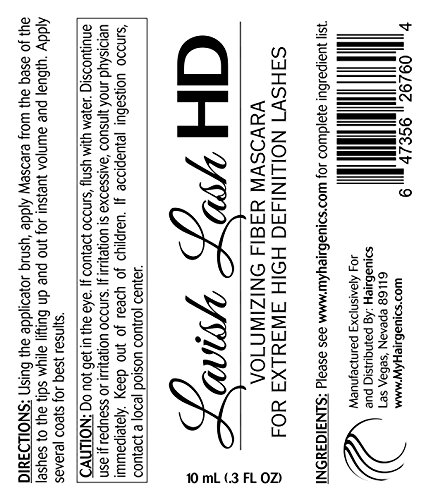 Product Image 2: Lavish Lash HD by Hairgenics - Ultra-Premium Volumizing Fiber Mascara for Extreme High Definition Lashes.