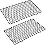 Cooling Racks Baking Rack -Stainless Steel Heavy Duty Grid Rack - Oven Safe Wire Racks Fit Quarter Sheet Pan - Small Grid Perfect to Cool and Bake- 16' x 10' Pack of 2