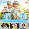 Seckton Upgrade Kids Selfie Camera, Christmas Birthday Gifts for Boys Age 3-9, HD Digital Video Cameras for Toddler, Portable Toy for 3 4 5 6 7 8 Year Old Boy with 32GB SD Card-Blue #4