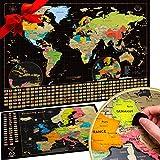 2 Cartes à gratter XXL – Carte du monde + Carte de l'Europe OFFERTE. Plus de 50 ans...