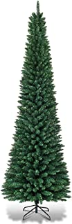 Goplus 7FT Pencil Christmas Tree, Artificial Slim Christmas Tree, 700 Branch Tips,..