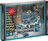 HAZET Santa Tools 2021 Calendrier de l'Avent pour homme avec outils, 28 pièces avec outils, dans une Smart Case extra antidérapante pour le rangement et le bon d'achat pour la boutique HAZET Fan