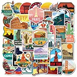 New Global Travel City Landscape Stickers Decal Vinyl For Stationery Scrapbooking Ps4 Skateboard Laptop Guitar Sticker50Pcs
