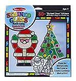 Melissa & Doug Stained Glass Made Easy Activity Kit, Santa & Tree...