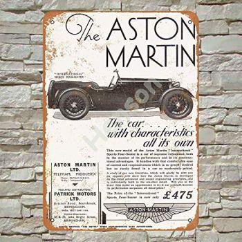 1932 Aston Martin International Sports Car Tin Sign Wall decor Retro Metal poster Painted Art Decoration Plaque