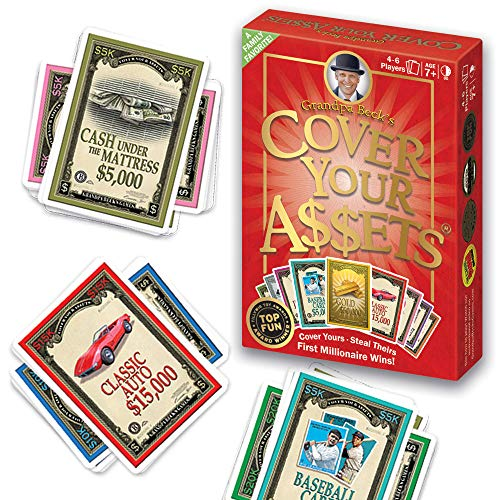 Grandpa Becks Cover Your Assets Card Game   Fun Family-Friendly Set-Collecting Game   Enjoyed by Kids, Teens, and Adults   From the Creators of Skull King   Ideal for 2-8 Players Ages 7+