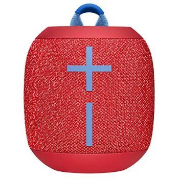 ULTIMATE EARS WONDERBOOM 2, Enceinte Portable Bluetooth Sans Fil, Son à 360 Degrés avec Basses Puissantes, Étanche / Anti-Poussière IP67, Capacité à Flotter, Portée de 30 Mètres - Radical Red