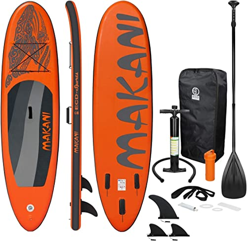 ECD Germany Sup Board Stand Up Paddle Surf Gonflable Makani   320x82x15 cm   Charge 150kg   PVC   Orange   Planche de...