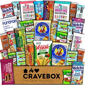 CraveBox Healthy Care Package (30 Count) Natural Food Bars Nuts Fruit Health Nutritious Snacks Variety Gift Box Pack… 12