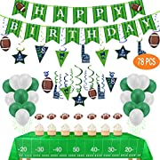 Perfect Football Party Decorations - Your football themed birthday party must need this decoration set.which will create a game day feeling right inside your home.Let's bring your football fans a big surprise! Perfect for SUPER BOWL Sunday,TAILGATE p...