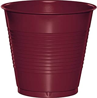 Creative Converting Touch of Color Plastic Cups, 16oz, Burgundy
