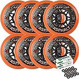 Labeda Asphalt Outdoor Inline Hockey Wheels (80mm, 8-Pack W/Bearings)
