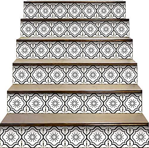 Mi Alma Peel and Stick Tile Backsplash Stair Riser Decals DIY Tile...