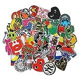TTBH Etiqueta engomada Impermeable del Logotipo de la Marca de Moda del monopatín para el Equipaje del Coche Guaitar Skateboard Phone Laptop Stickers100 Uds