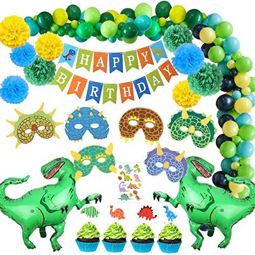 SPECOOL Globos de cumpleaños Decoraciones de Fiesta de Dino