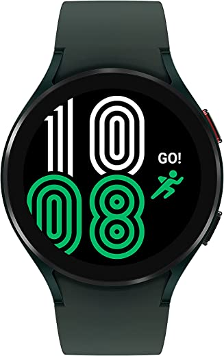 SAMSUNG Galaxy Watch 4, 44mm Smartwatch with ECG Monitor Tracker for Health Fitness Running Sleep Cycles GPS Fall Detection LTE US Version, Green