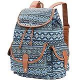 VBG VBIGER Canvas Backpack for Women Girls Cloth Backpack Purse Casual Daypack Travel Daypack School Bag Bohemian Backpack boho Backpack Blue