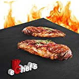 BBQ Grill Mat, Baking Mat - 100% Food-Safe - 2 Pack – 15.75x13 Inches | Non-Stick | 0.39mm Thick Heavy Duty Grill Accessory for Heat up to 600 Degrees – Reusable - Dishwasher Safe - PFOA Free