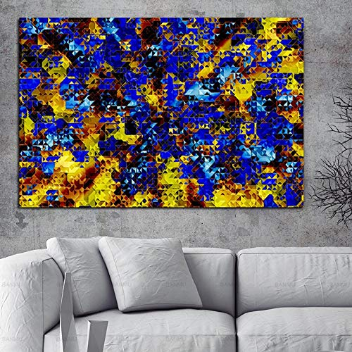 hetingyue Manifesto Moderno Dipinto su Tela Colore Nuvole astratte Stampa Foto Arte Parete di...