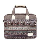 Feisman 13-13.6 Pulgadas portátiles Bolso para Macbook Air Pro 13, 13 Pulgadas maletín portátil -(Gris)