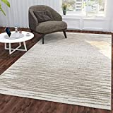 Silk Road Concepts Collection Striped Rugs, 5'3' x 7'3', Beige